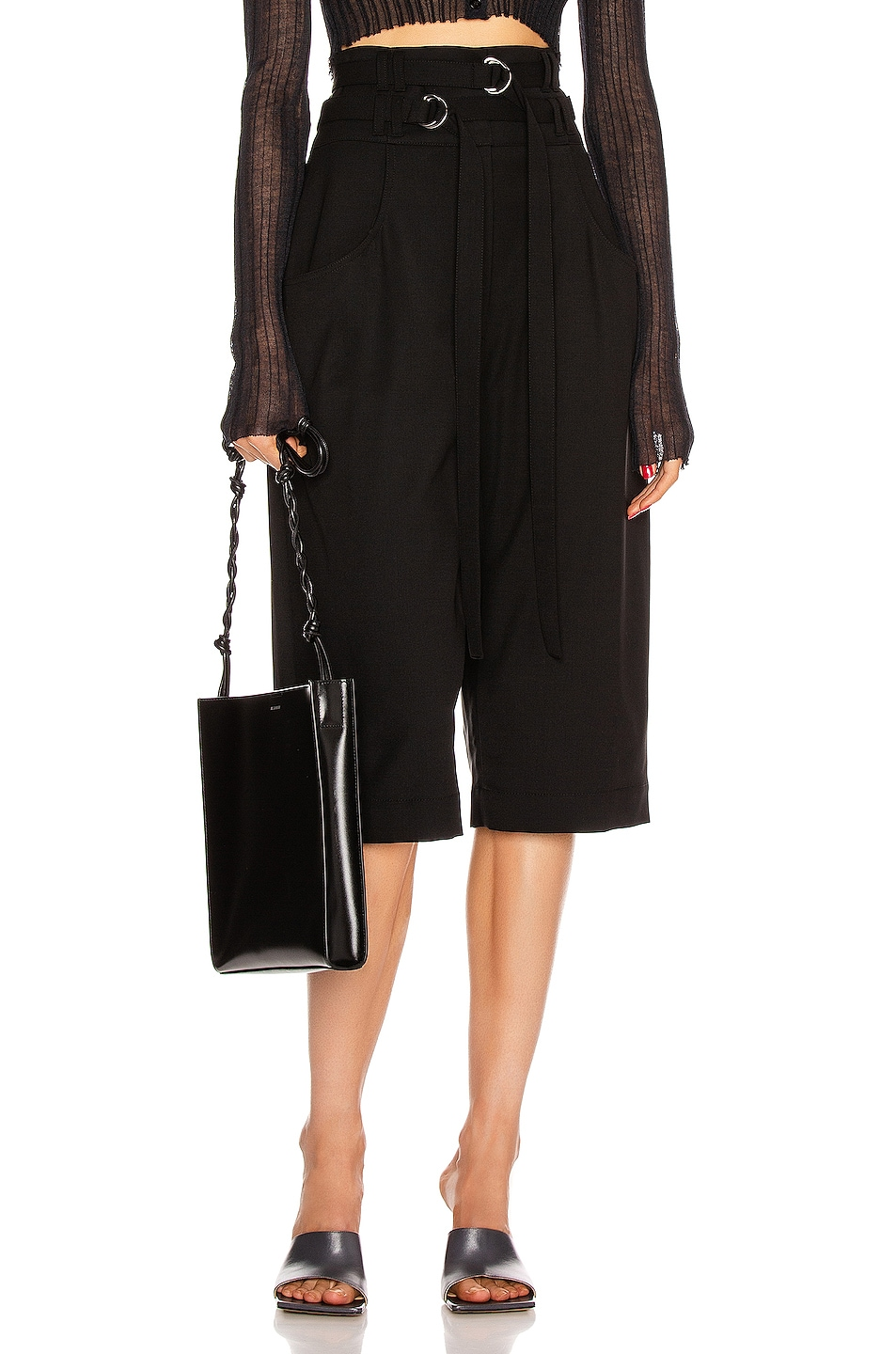 Image 1 of Proenza Schouler Wool Culotte Pant in Black