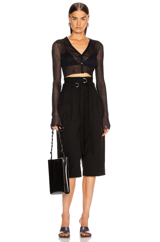 Image 4 of Proenza Schouler Wool Culotte Pant in Black