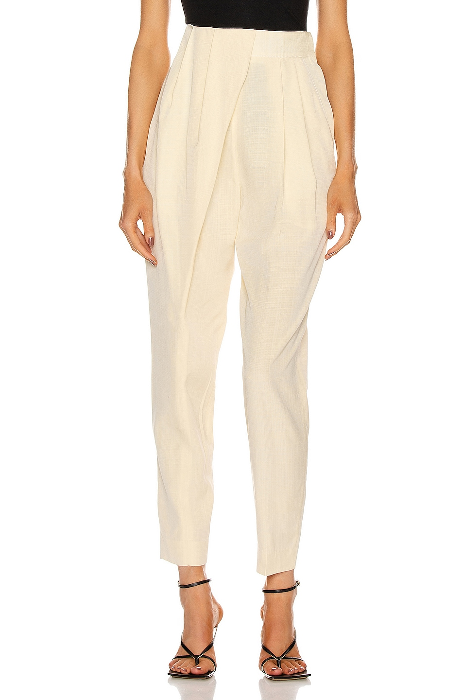 Image 1 of Proenza Schouler Draped Front Pant in Butter Melange