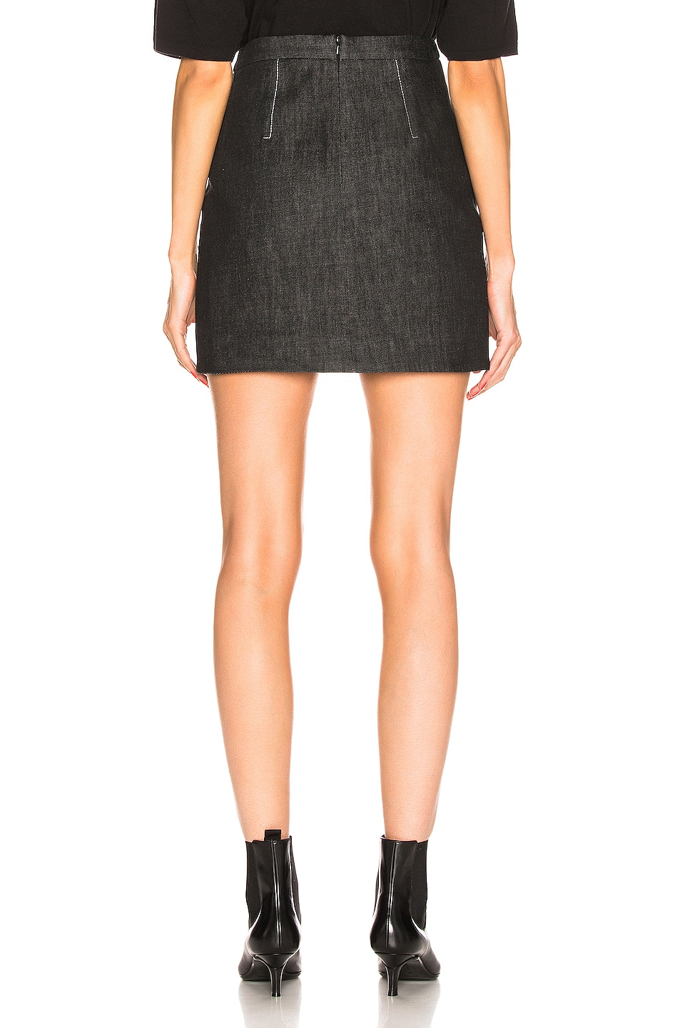 Image 3 of Proenza Schouler Stud Embroidery Mini Skirt in Black & Silver