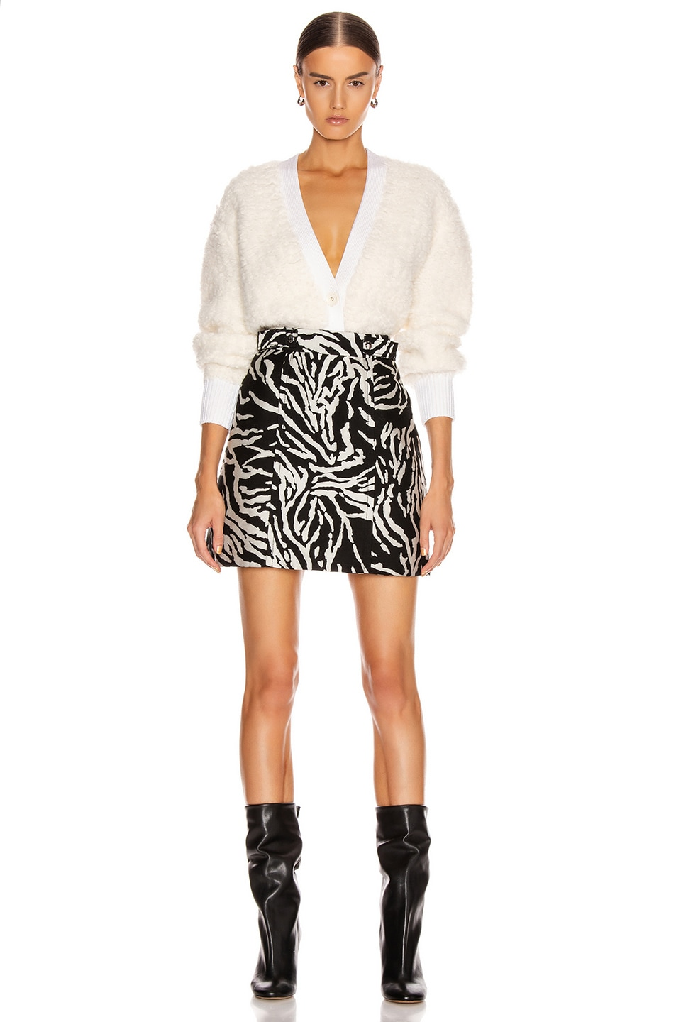 Image 4 of Proenza Schouler Short A-Line Skirt in Black & White