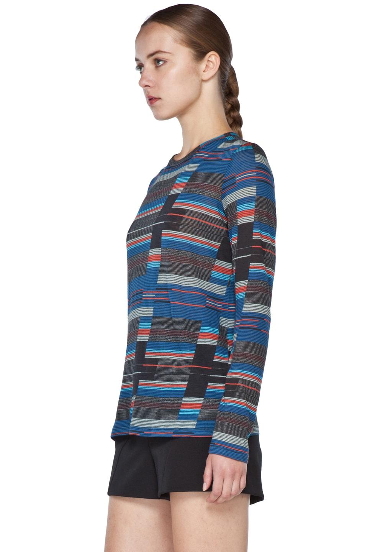 Image 2 of Proenza Schouler Long Sleeve T Shirt in Navy Stripe