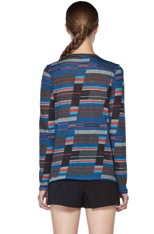 Image 4 of Proenza Schouler Long Sleeve T Shirt in Navy Stripe