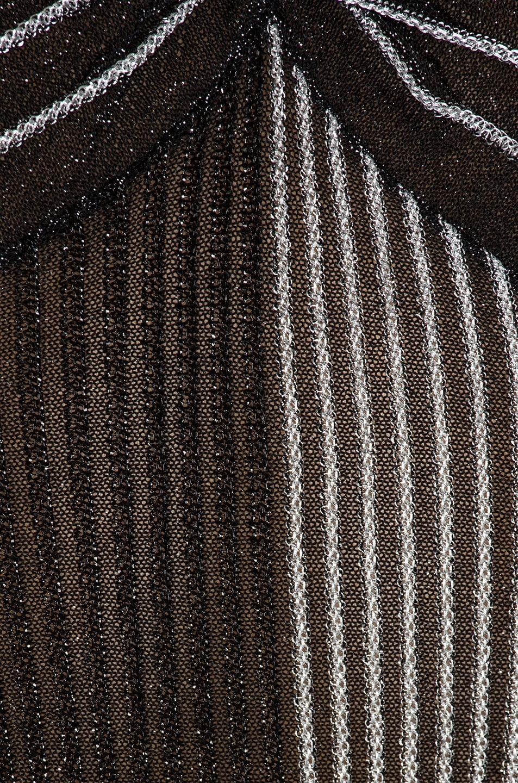 Image 6 of Proenza Schouler Metallic Rib Long Sleeve V-Neck Top in Silver