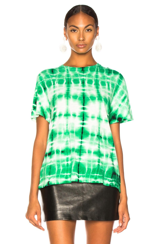 Image 2 of Proenza Schouler Tie Dye Shirt in Malachite & White