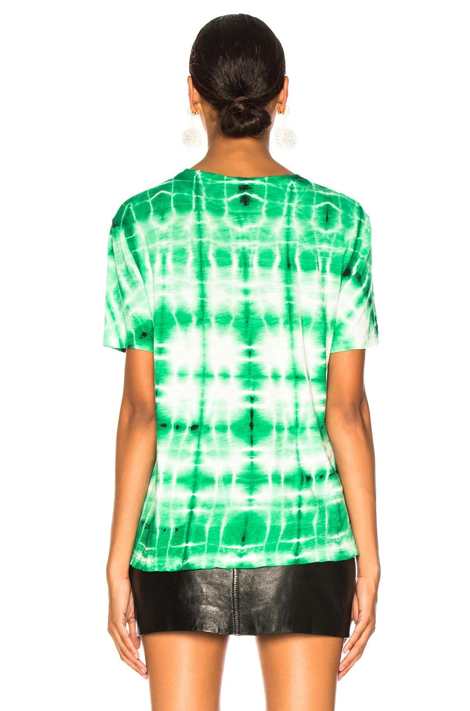 Image 4 of Proenza Schouler Tie Dye Shirt in Malachite & White
