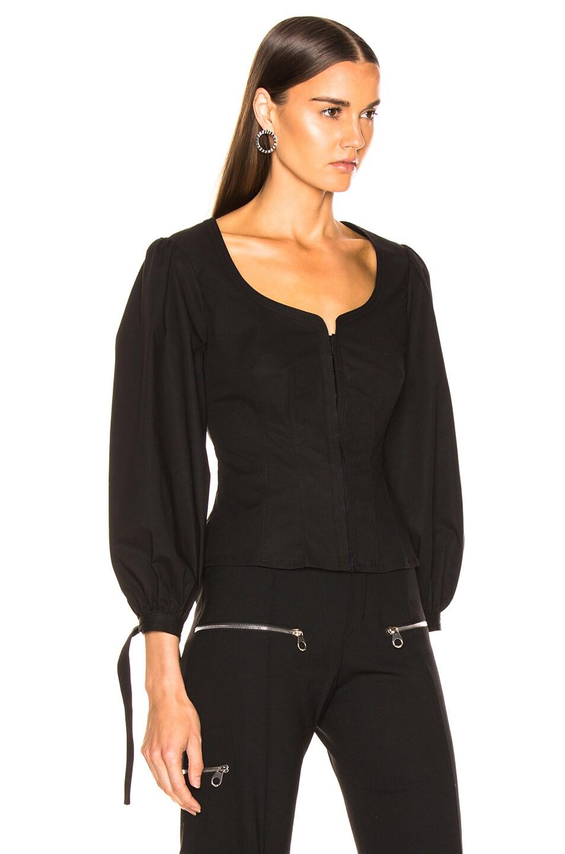 Image 3 of Proenza Schouler Puff Sleeve Top in Black