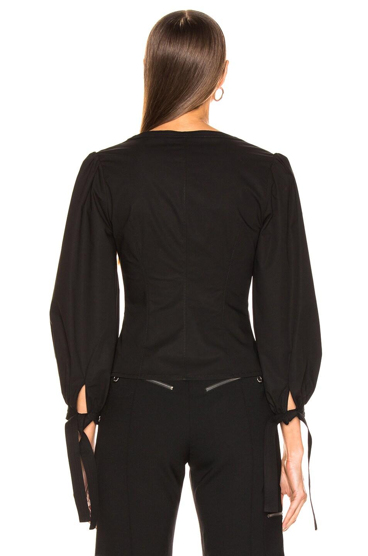 Image 4 of Proenza Schouler Puff Sleeve Top in Black