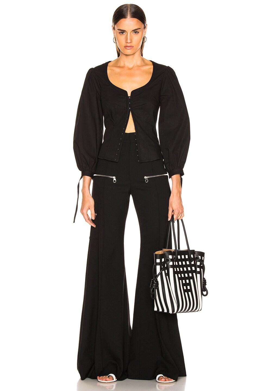 Image 5 of Proenza Schouler Puff Sleeve Top in Black