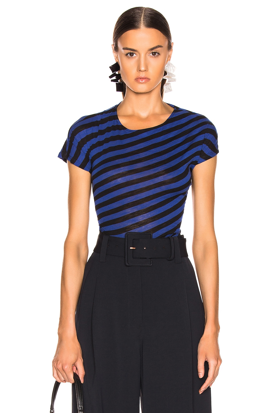 Image 1 of Proenza Schouler Twisted Top in Cobalt & Black
