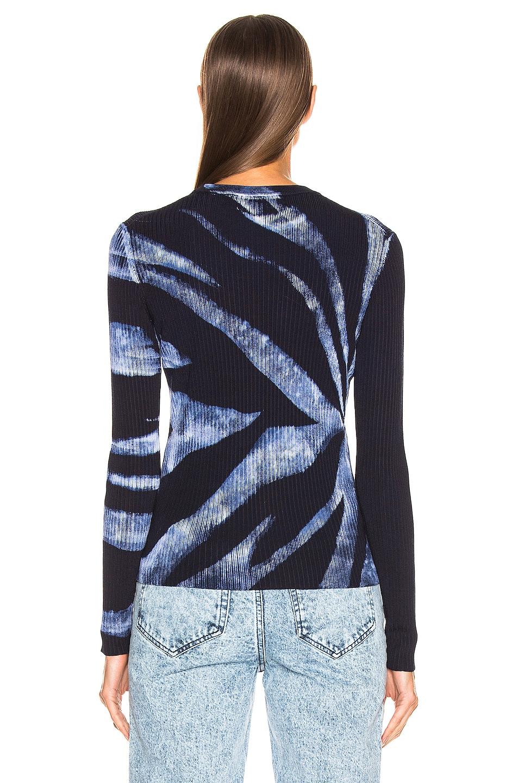 Image 4 of Proenza Schouler Tie Dye Rib Long Sleeve Top in Dark Indigo & White