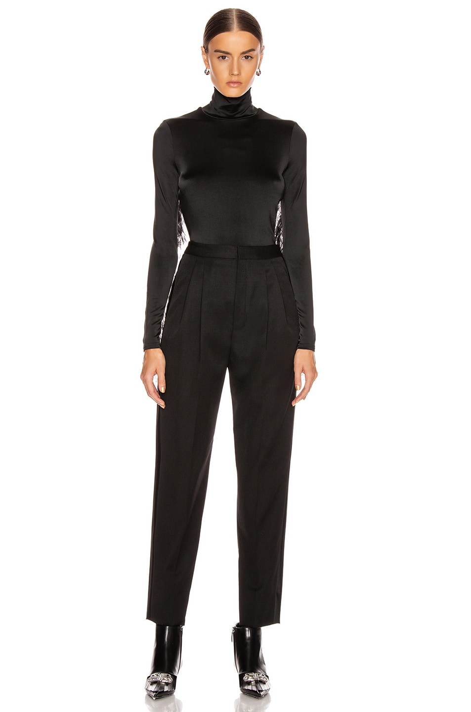 Image 5 of Proenza Schouler Long Sleeve Feathers Top in Black