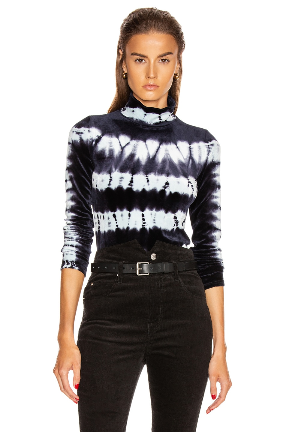 Image 1 of Proenza Schouler Tie Dye Turtleneck Top in Indigo & Baby Blue
