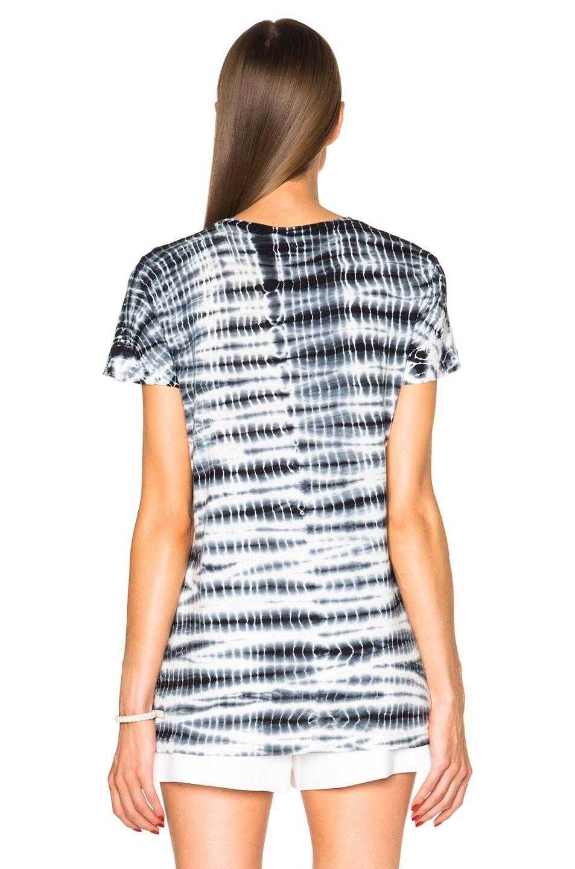 Image 4 of Proenza Schouler Tie Dye Baggy Cotton Tee in Black & White
