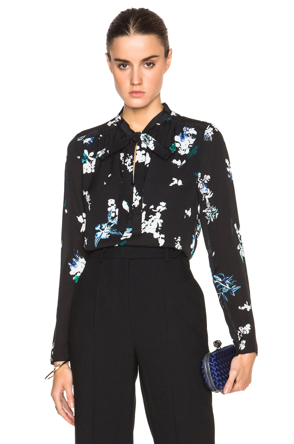 long sleeve printed shirt - Blue Proenza Schouler Free Shipping Countdown Package Outlet 100% Guaranteed Buy Authentic Online Websites Online 7HYFh