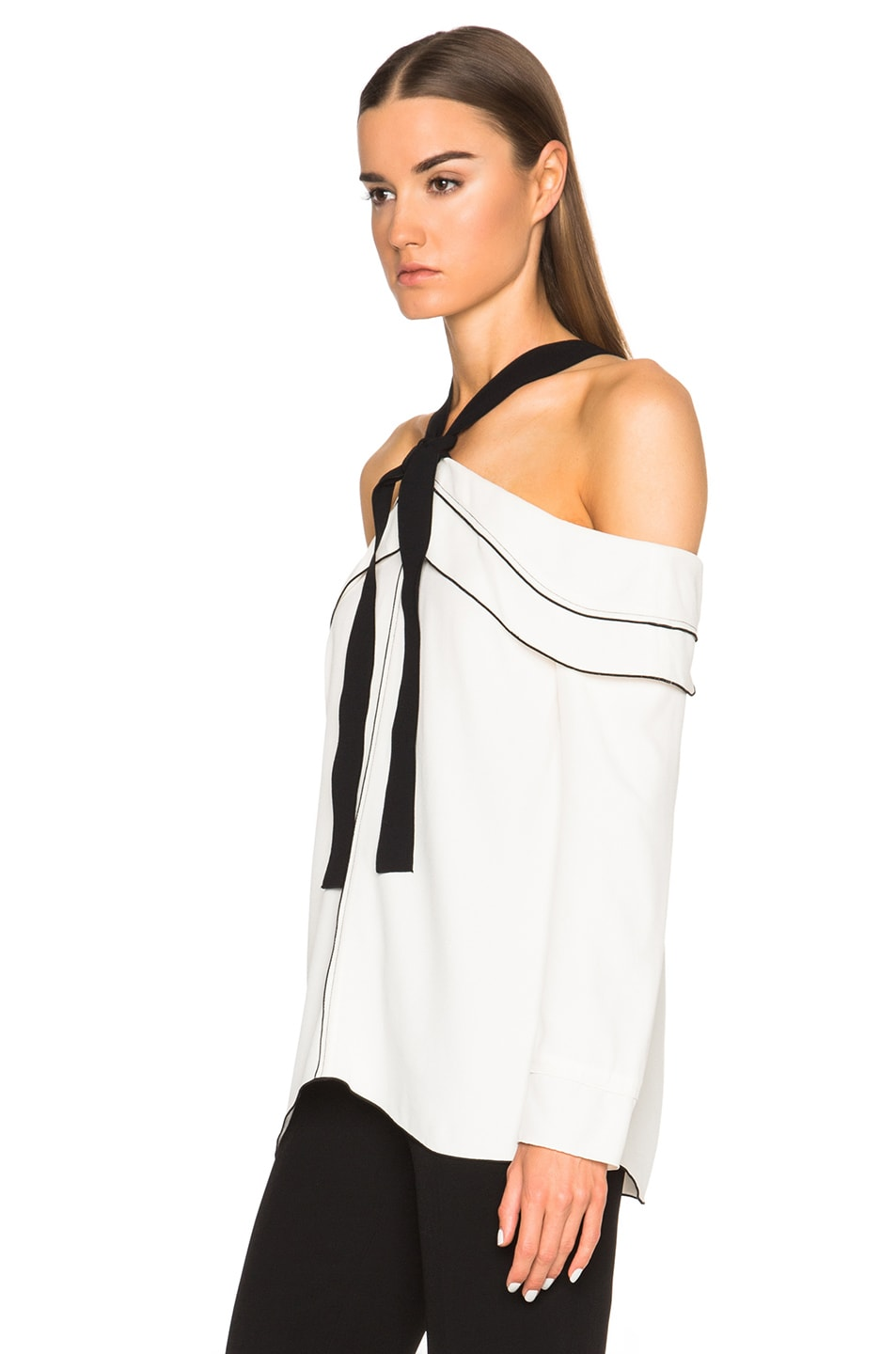 13480fa892565 Image 2 of Proenza Schouler Off Shoulder Blouse in Off White