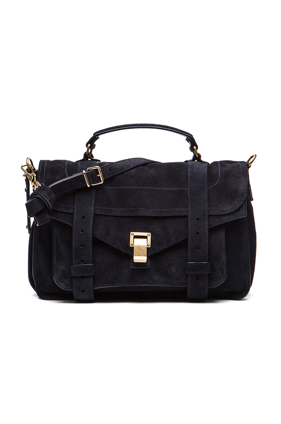 Image 1 of Proenza Schouler Medium PS1 Suede in Navy