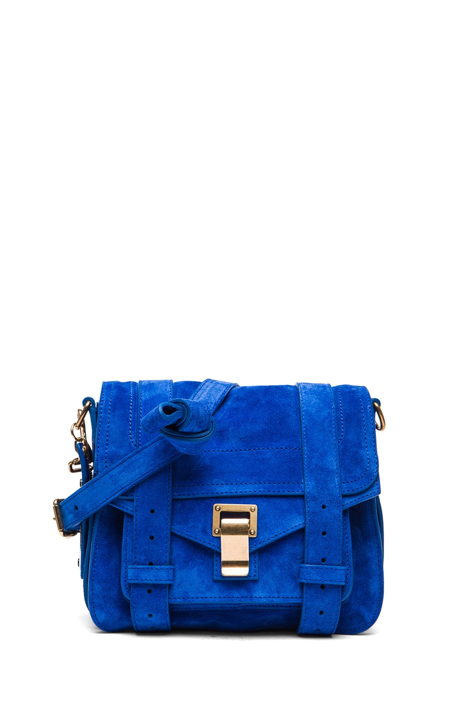 Image 1 of Proenza Schouler PS1 Suede Pouch in Royal Blue