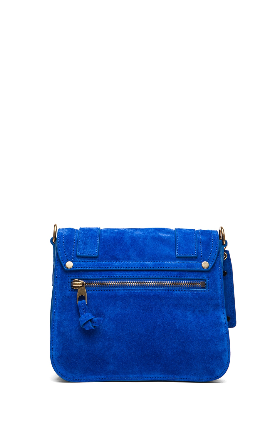 Image 2 of Proenza Schouler PS1 Suede Pouch in Royal Blue
