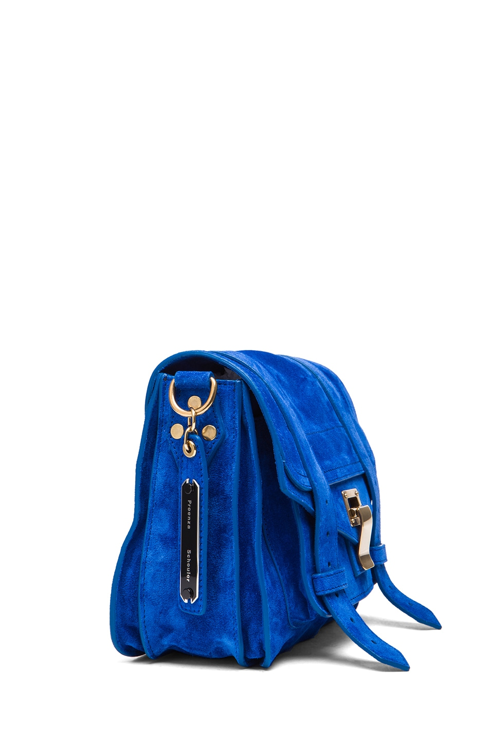 Image 3 of Proenza Schouler PS1 Suede Pouch in Royal Blue