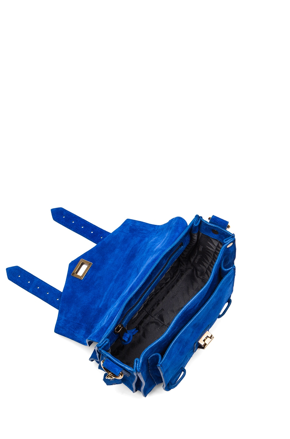 Image 4 of Proenza Schouler PS1 Suede Pouch in Royal Blue