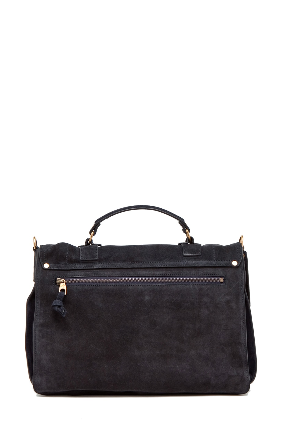 Image 2 of Proenza Schouler PS1 Large Suede  in Navy
