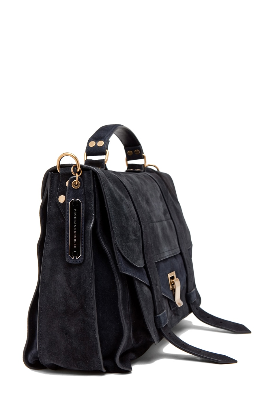 Image 3 of Proenza Schouler PS1 Large Suede  in Navy
