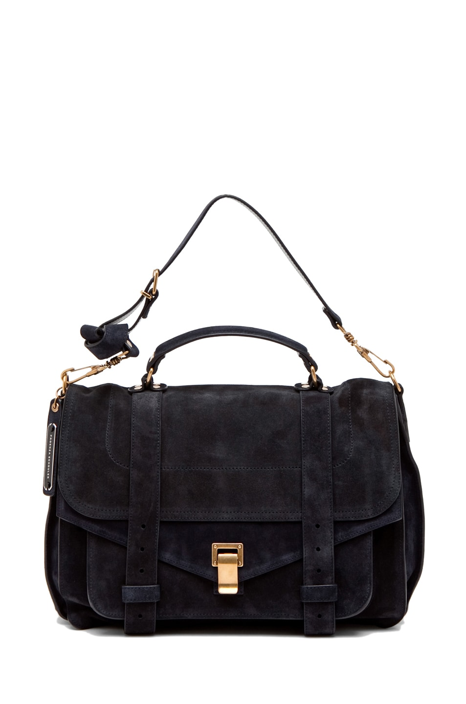 Image 5 of Proenza Schouler PS1 Large Suede  in Navy
