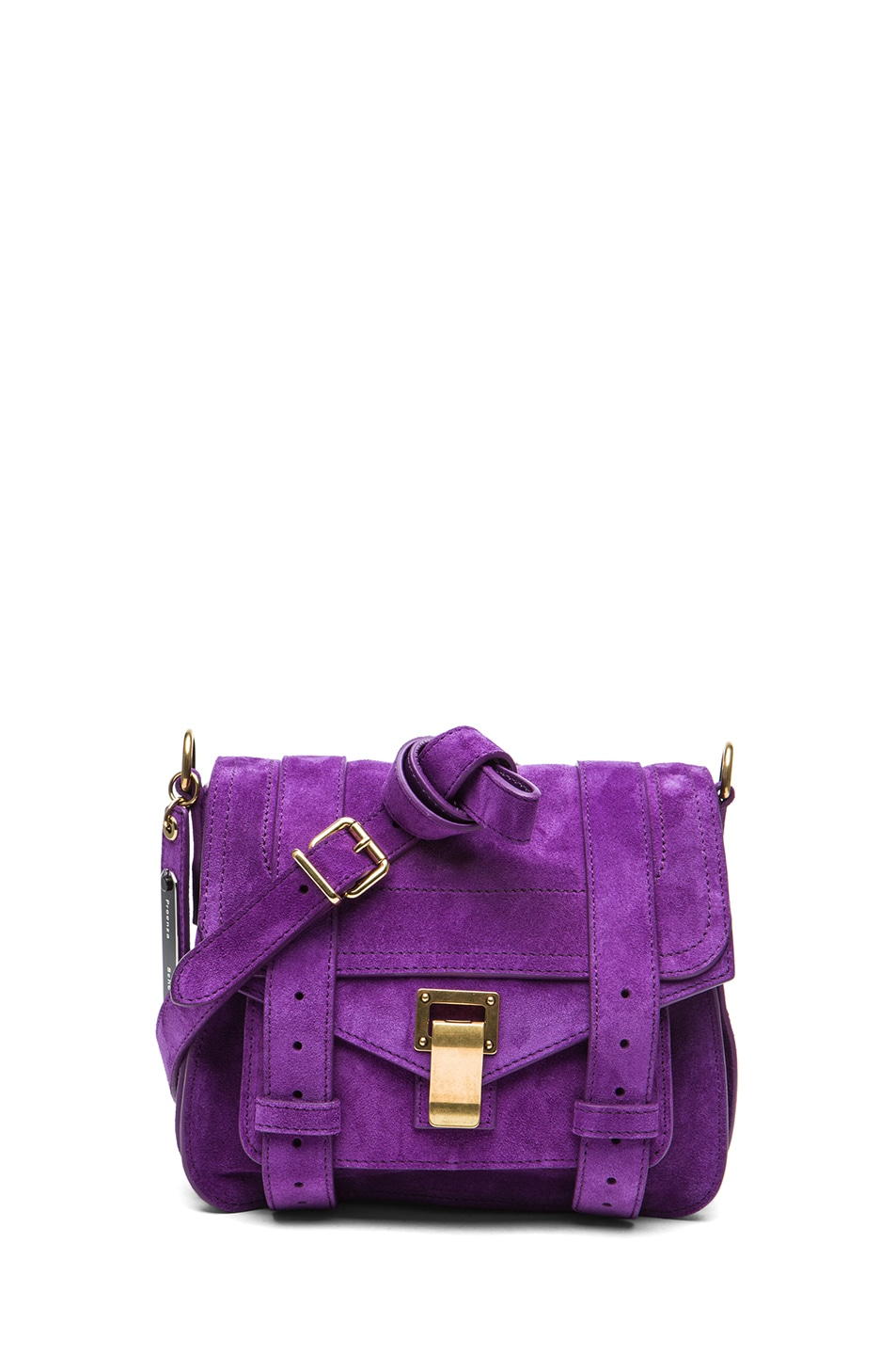 Image 1 of Proenza Schouler PS1 Suede Pouch in Veruca Salt
