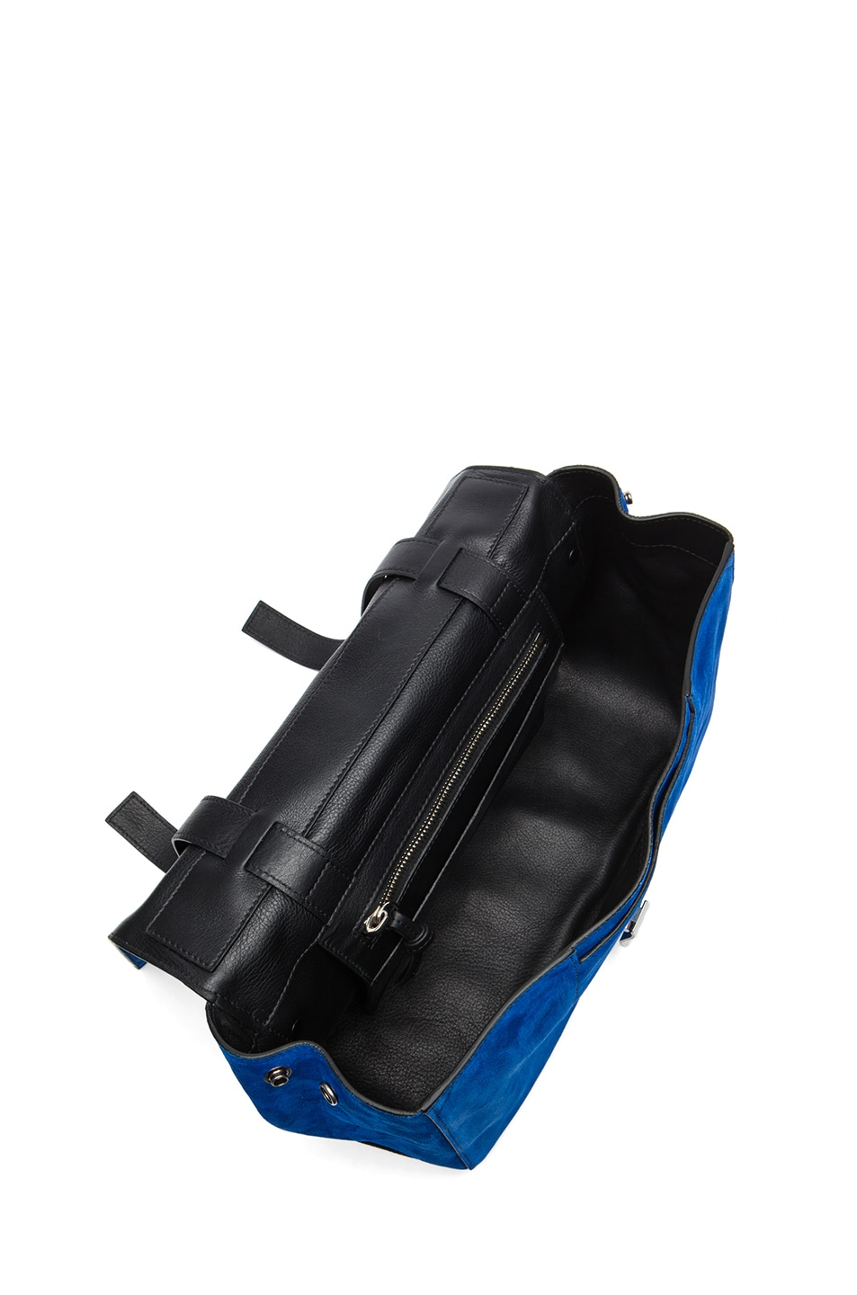 Image 4 of Proenza Schouler PS Suede Courier in Royal Blue & Black