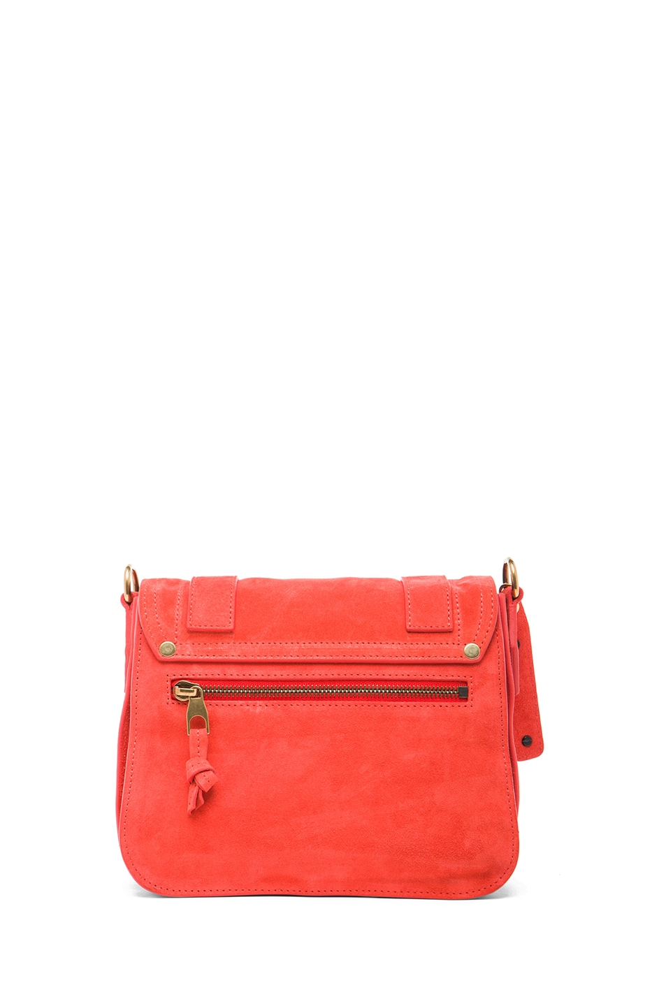 Image 2 of Proenza Schouler PS1 Suede Pouch in Poppy