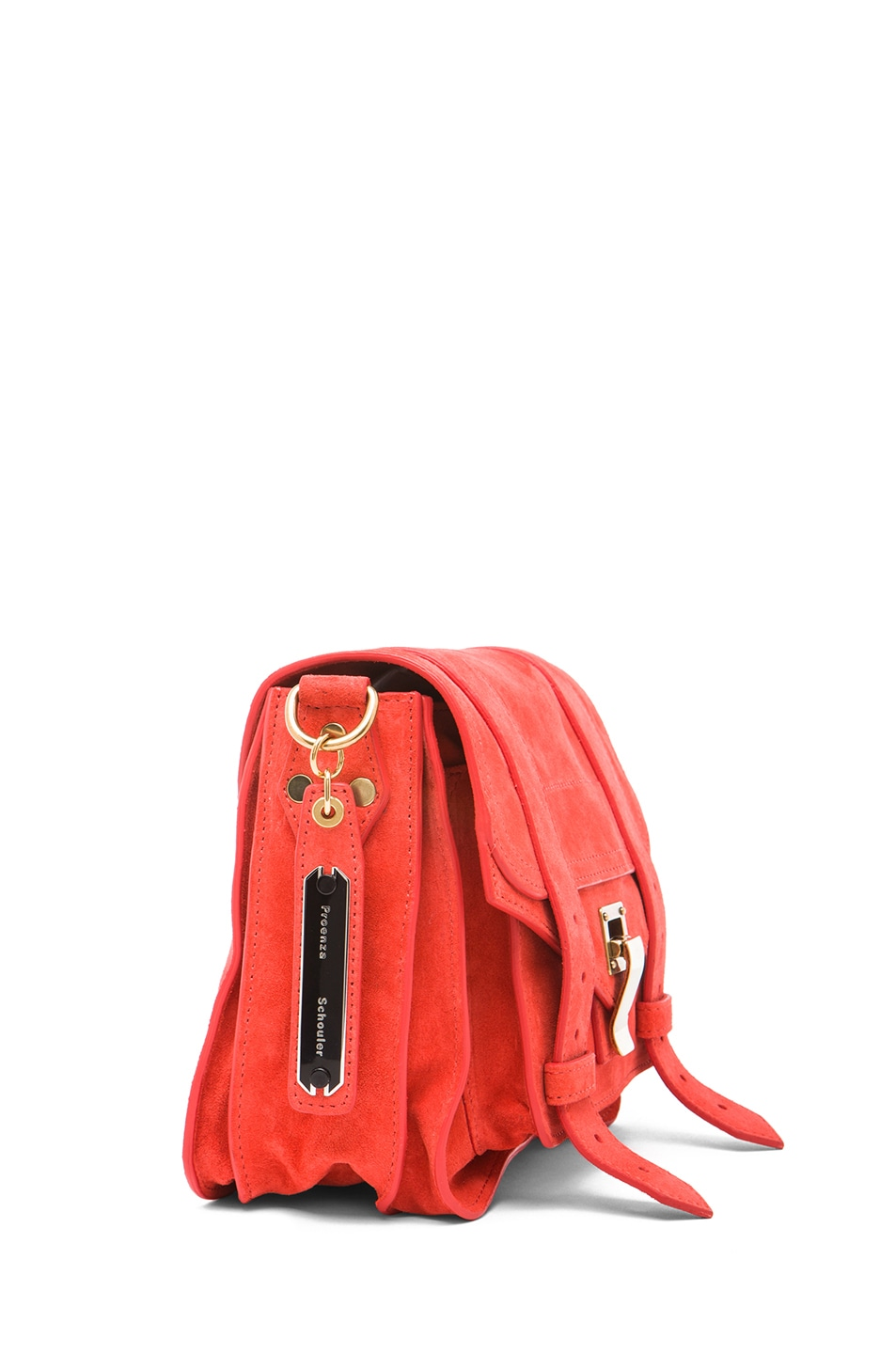 Image 3 of Proenza Schouler PS1 Suede Pouch in Poppy