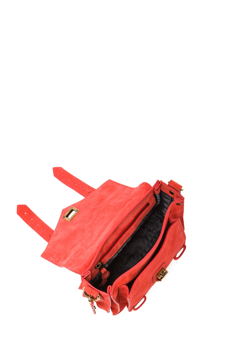 Image 4 of Proenza Schouler PS1 Suede Pouch in Poppy