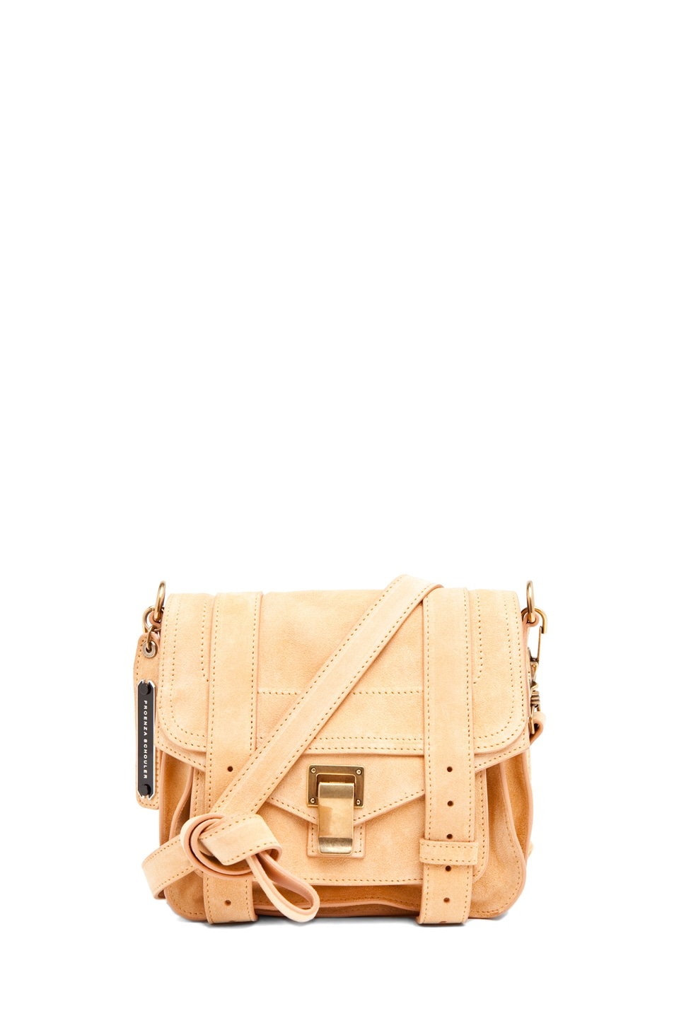 Image 1 of Proenza Schouler PS1 Pouch Suede  in Melon