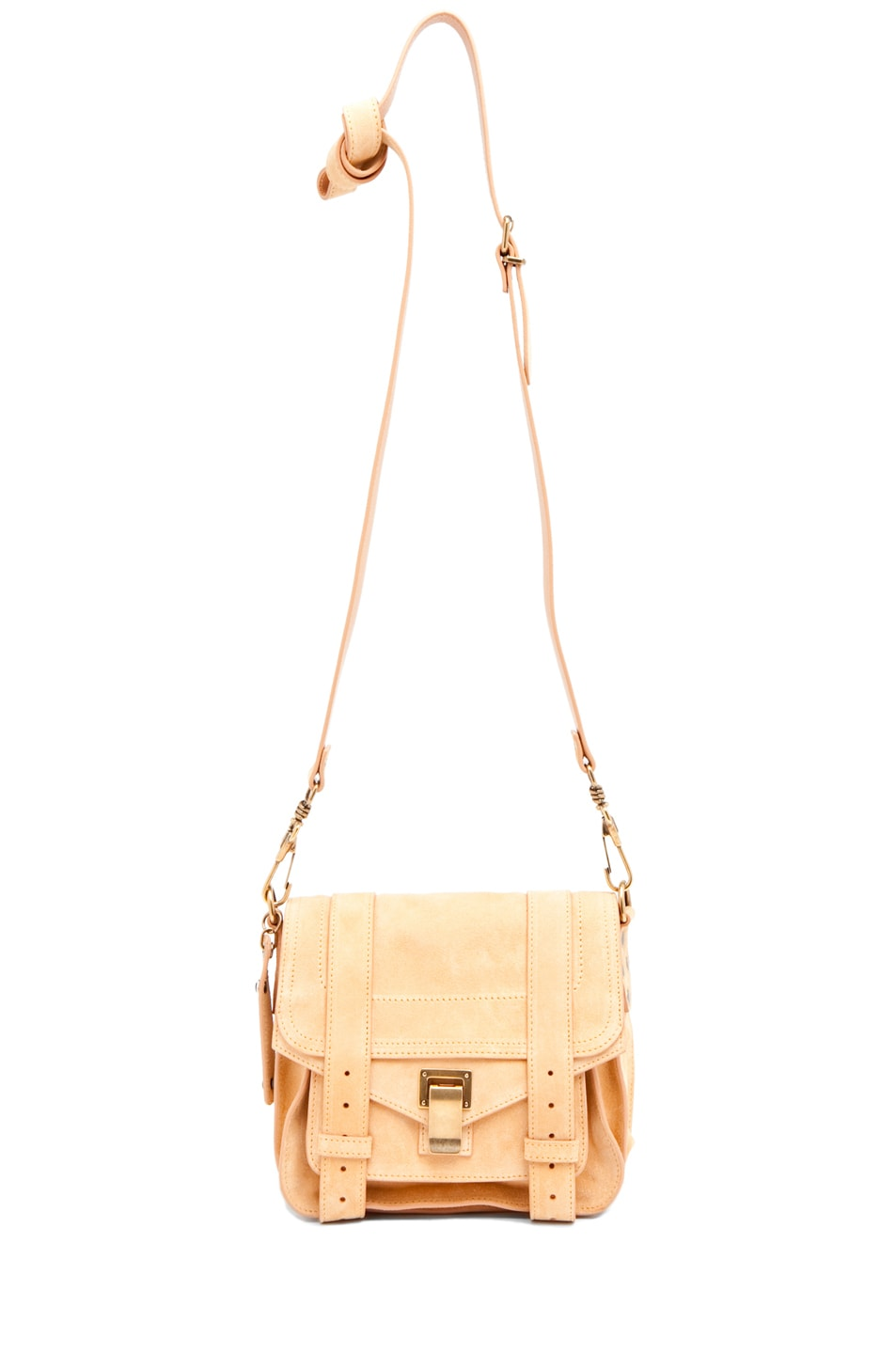 Image 5 of Proenza Schouler PS1 Pouch Suede  in Melon