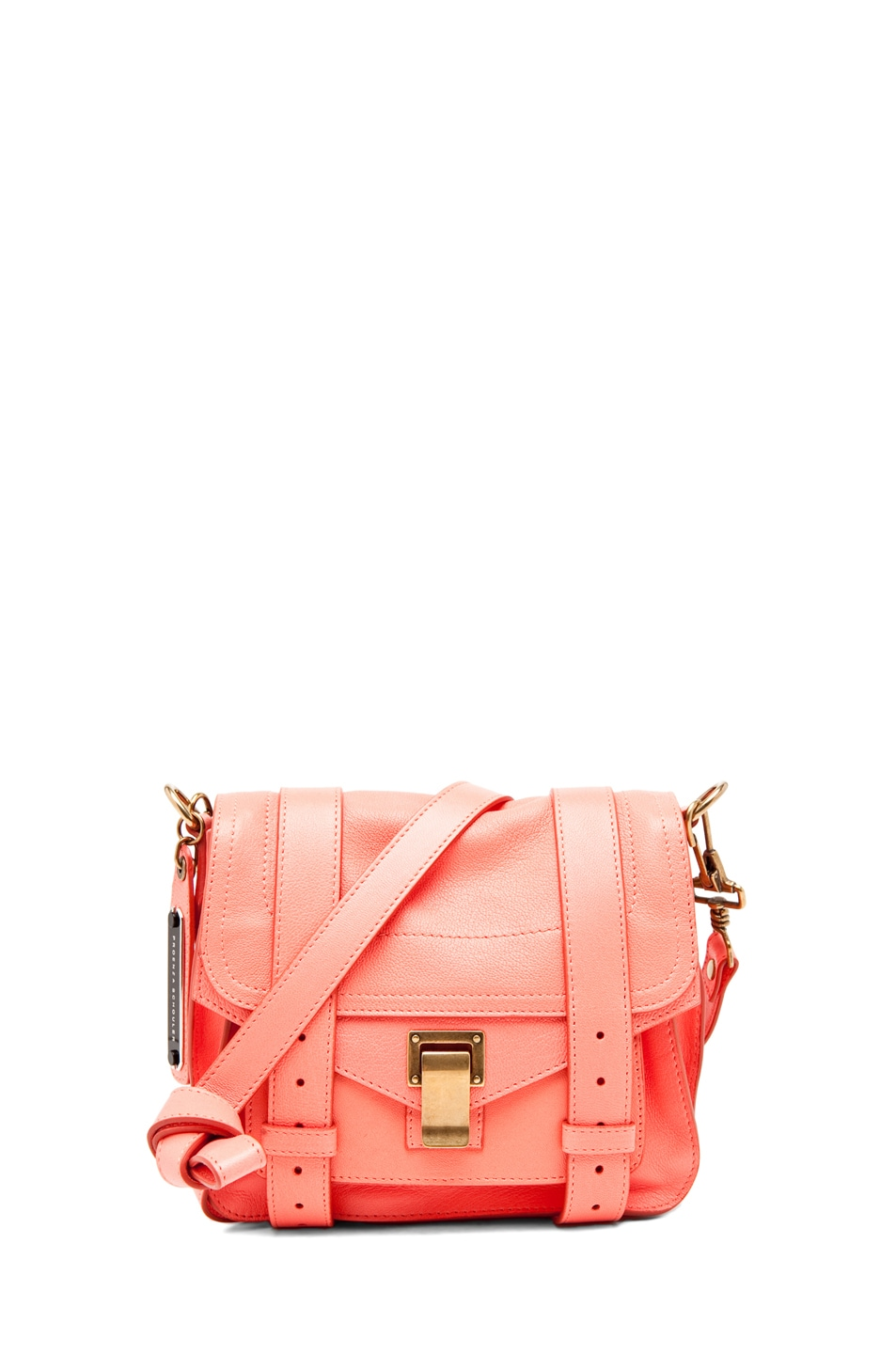 Image 1 of Proenza Schouler PS1 Pouch Leather in Neon Coral