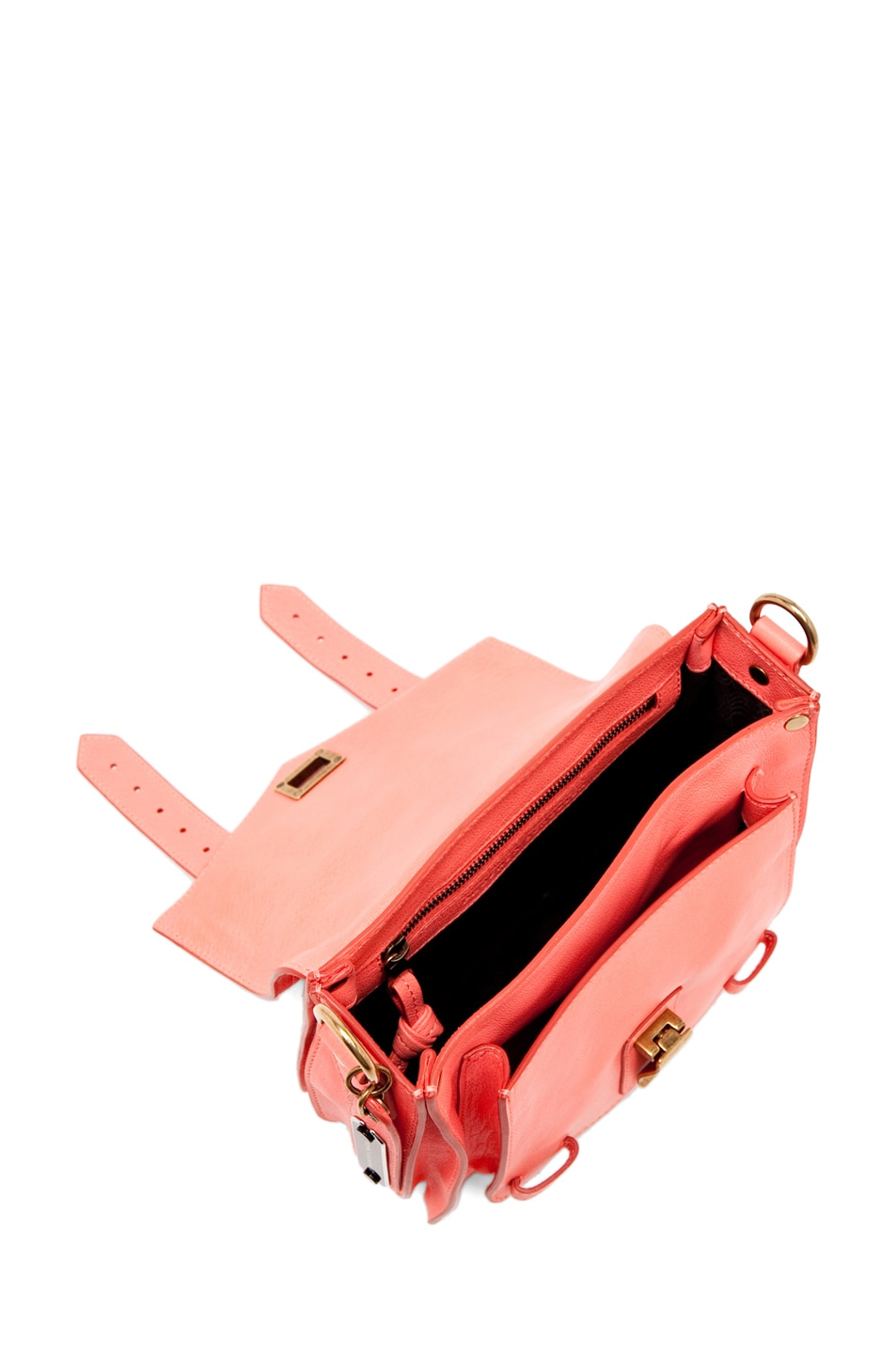 Image 4 of Proenza Schouler PS1 Pouch Leather in Neon Coral