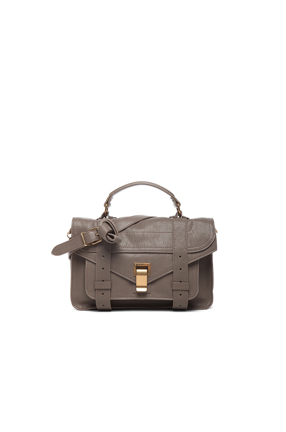 Image 1 of Proenza Schouler Tiny PS1 Leather in Smoke