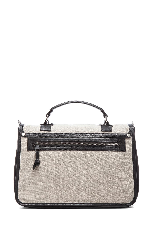 Image 2 of Proenza Schouler Medium PS1 Linen in Natural & Black