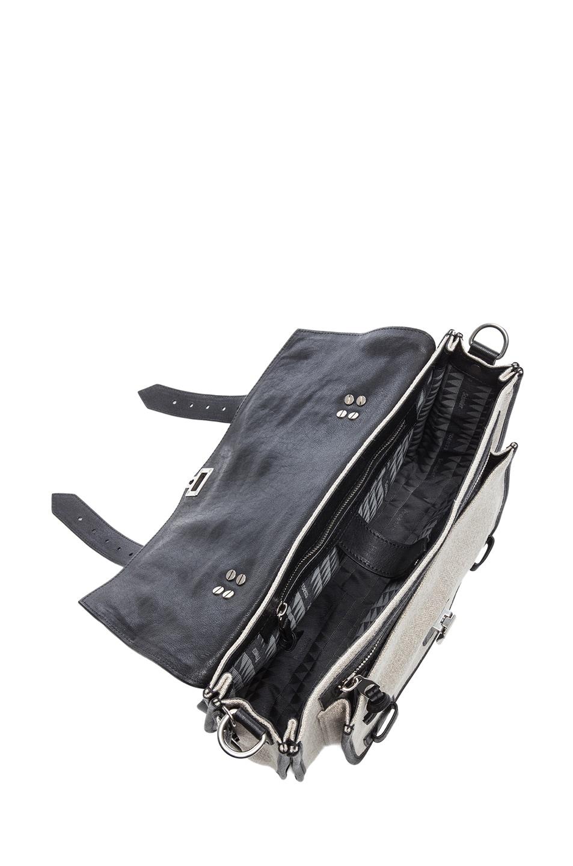 Image 4 of Proenza Schouler Medium PS1 Linen in Natural & Black
