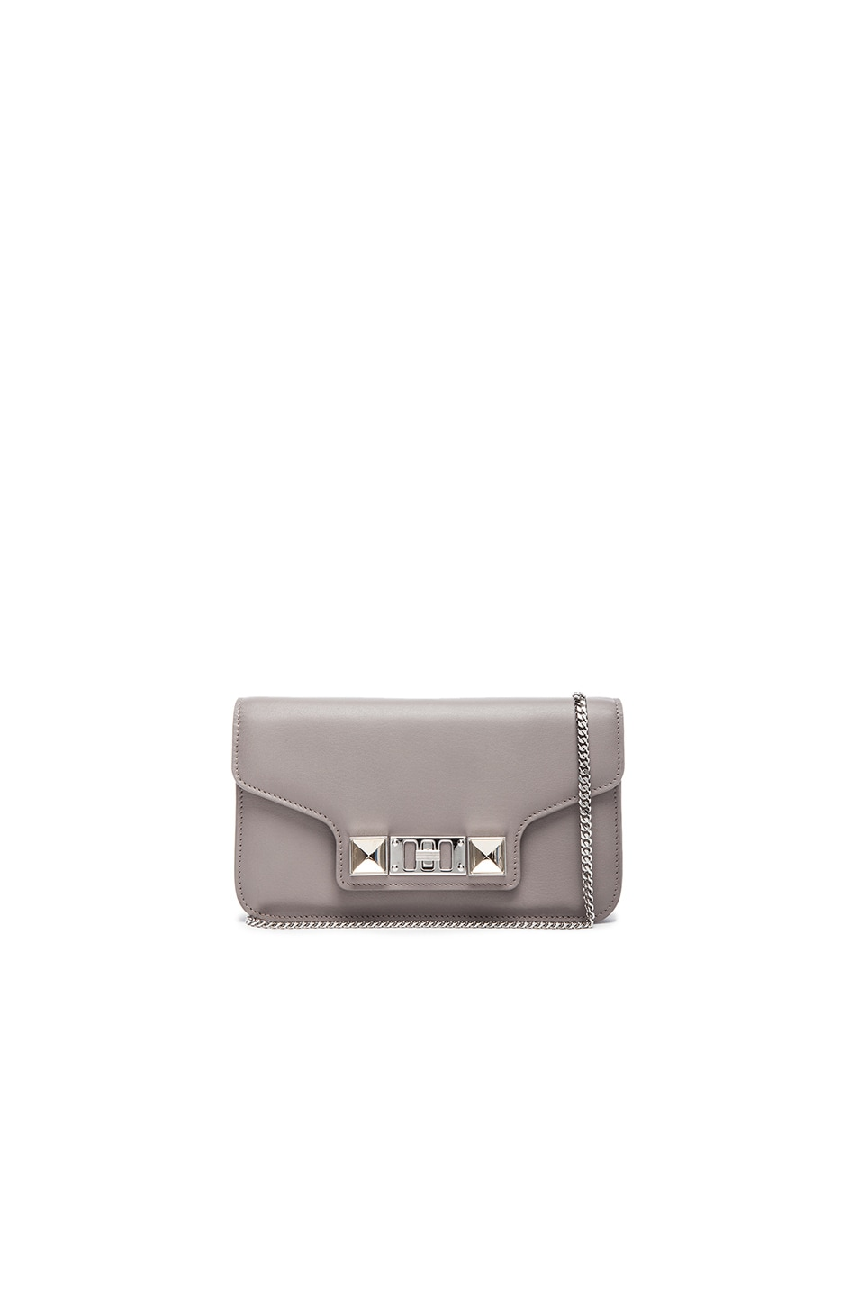 Image 1 of Proenza Schouler PS11 Smooth Calf Leather Chain Wallet in Mushroom