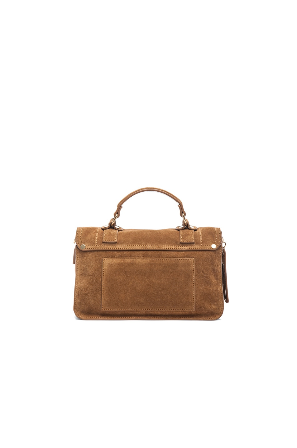Image 3 of Proenza Schouler Tiny PS1 Suede in Tobacco