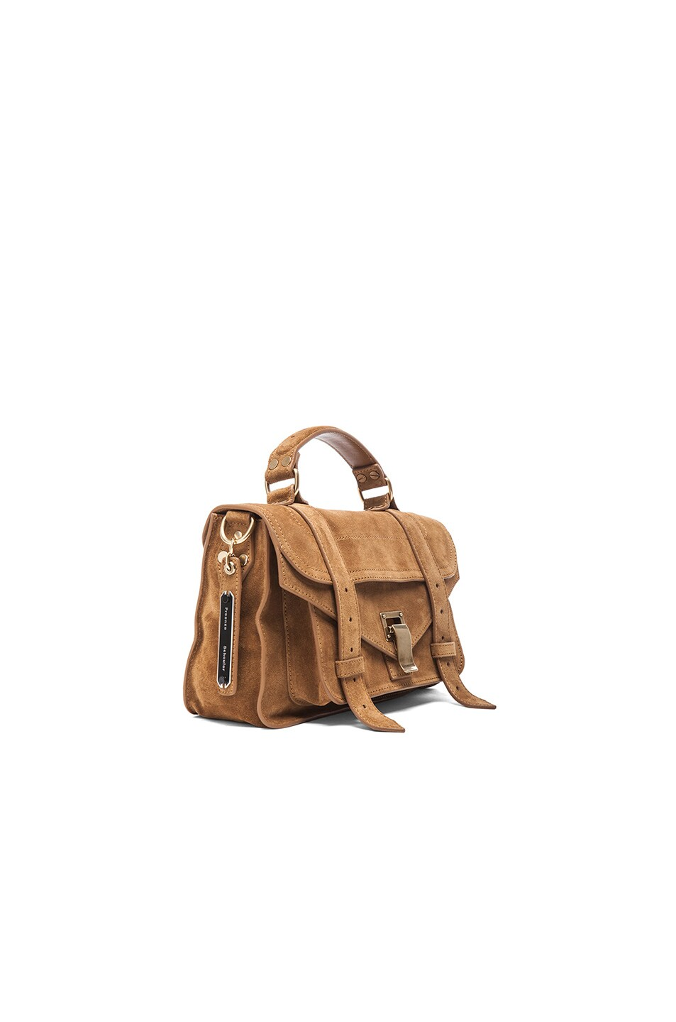 Image 4 of Proenza Schouler Tiny PS1 Suede in Tobacco