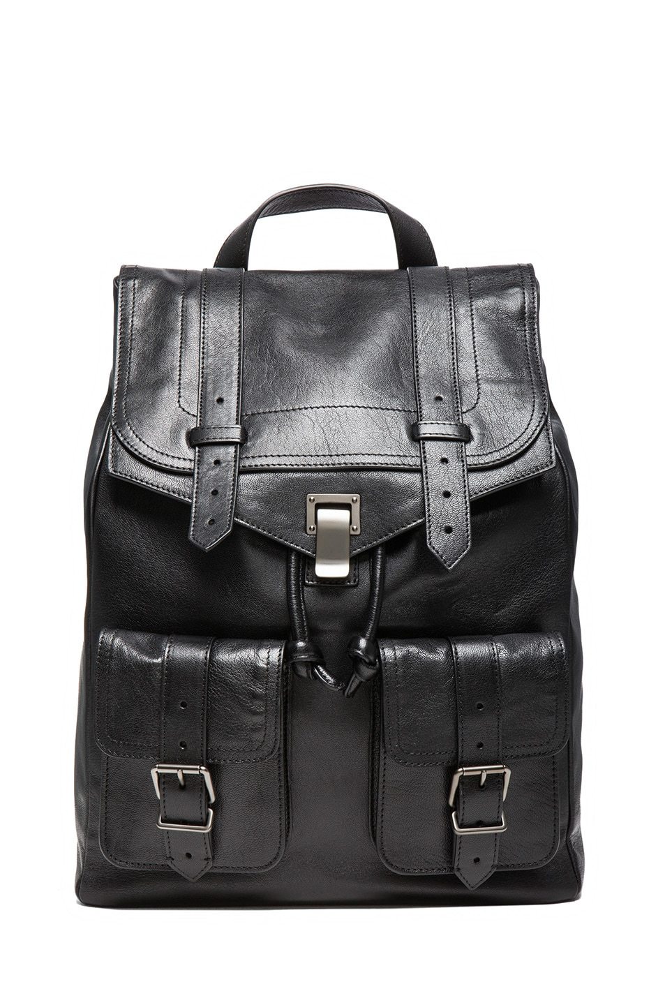 Image 1 of Proenza Schouler PS1 Leather Backpack in Black