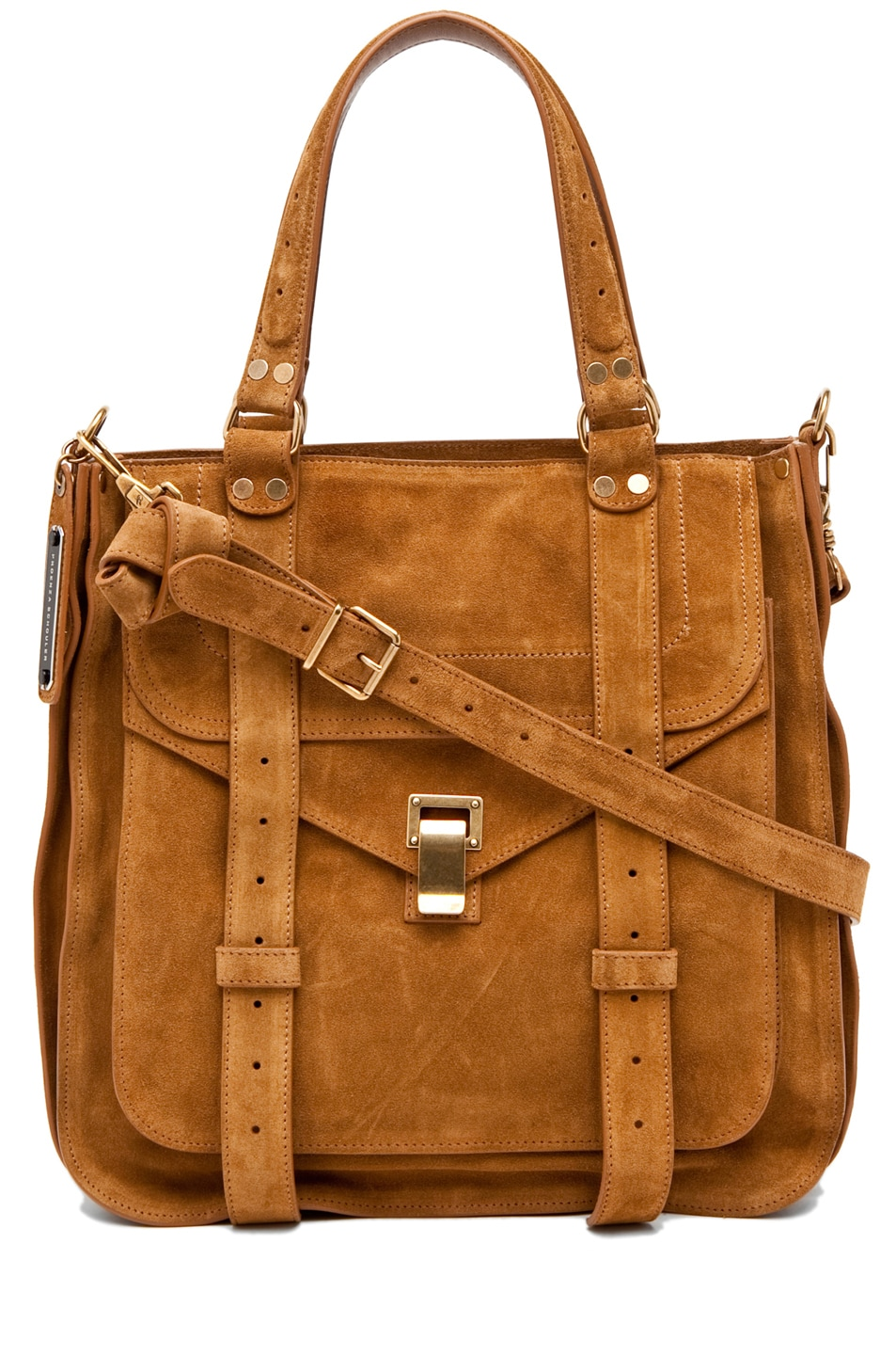 Image 1 of Proenza Schouler PS1 Tote Suede  in Tobacco
