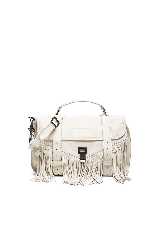 Image 1 of Proenza Schouler Medium Fringe PS1 Bag in White