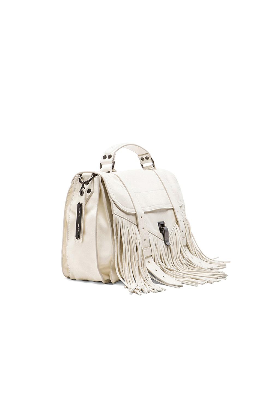 Image 3 of Proenza Schouler Medium Fringe PS1 Bag in White
