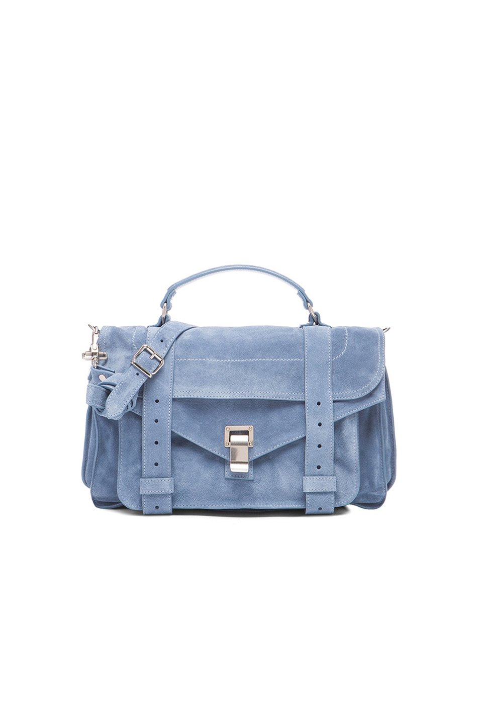 Image 1 of Proenza Schouler Medium PS1 Suede in Breeze