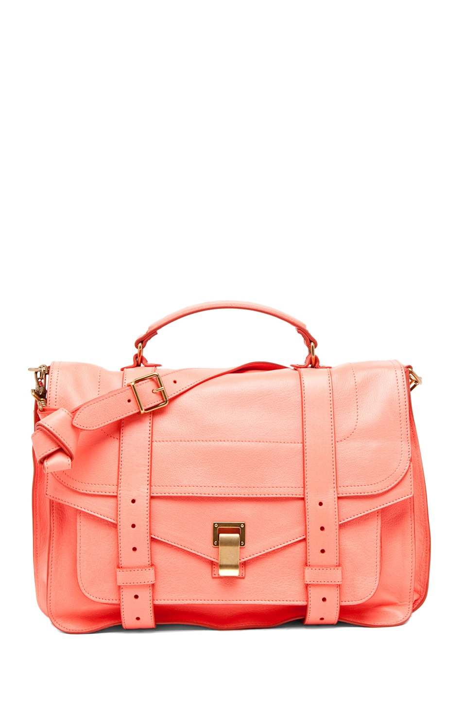 Image 1 of Proenza Schouler PS1 Large Leather in Neon Coral