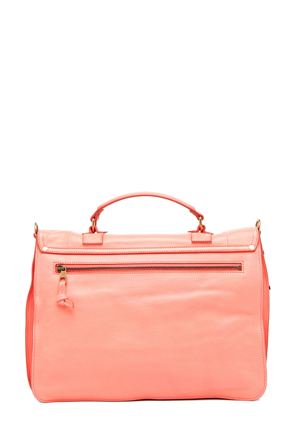 Image 2 of Proenza Schouler PS1 Large Leather in Neon Coral